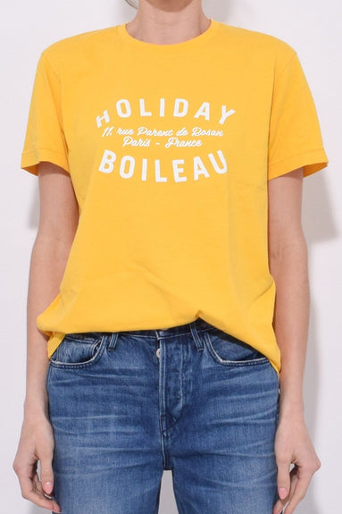 Holiday T-Shirt in Yellow