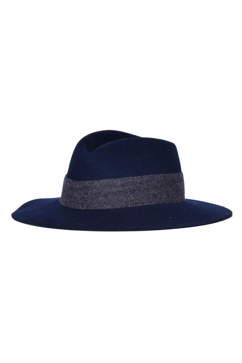 Range Fedora in Navy