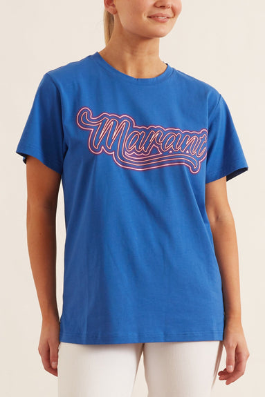 Zaof Neon Tee Shirt in Electric Blue