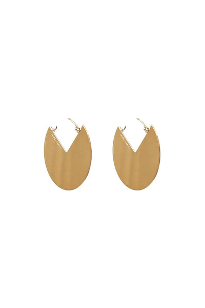 90 Degrees Large Earring in Dore