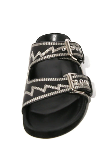 Lennyo Sandal in Black/Ecru