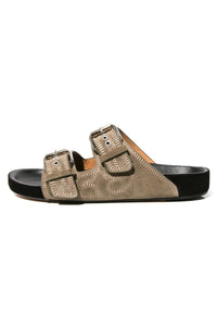 Lennyo Sandal in Taupe