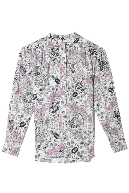 Mexika Shirt in Ecru/Pink