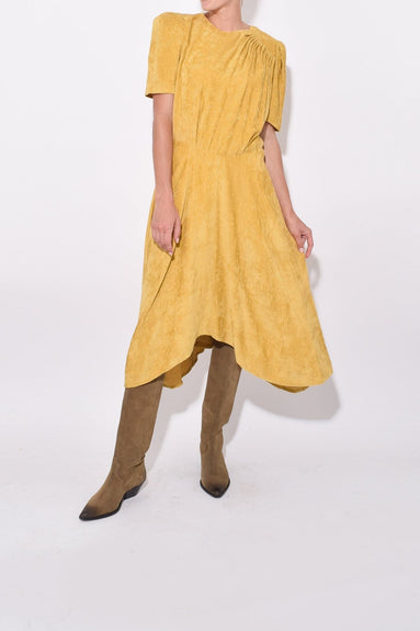 Ulia Dress in Dusty Yellow