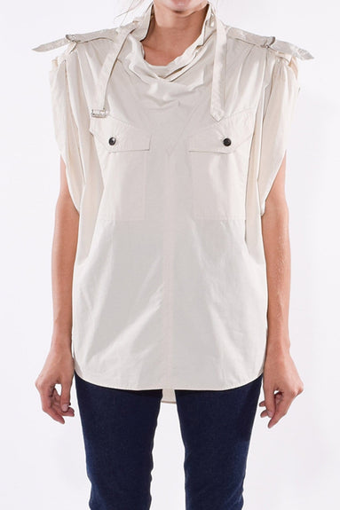 Parlamea Top in Chalk
