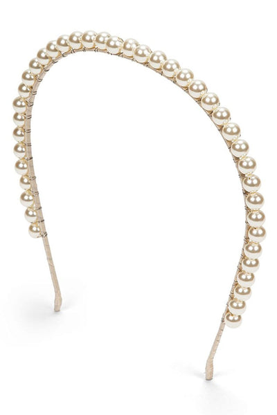 Brinn Headband in Pearl