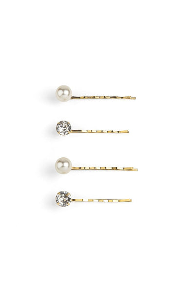 Gigi Bobby Pins in Crystal Antique Gold