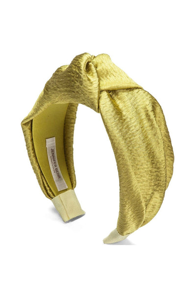 Hammered Silk Samaya Headband in Chartreuse