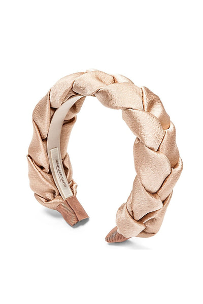 Lorelei Hammered Silk Headband in Almond