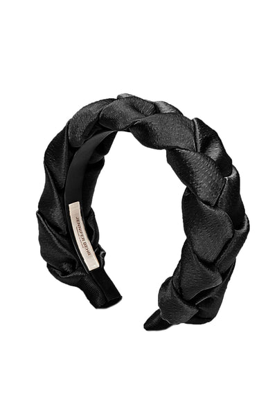 Lorelei Hammered Silk Headband in Black