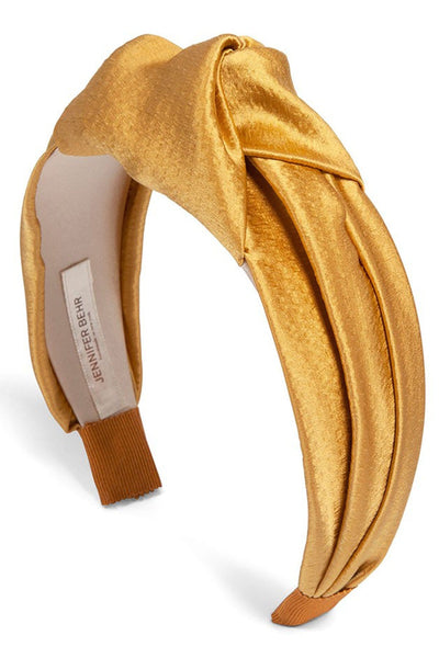 Samaya Hammered Silk Headband in Goldenrod