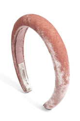 Tori Velvet Headband in Blush