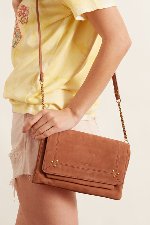 Charly Medium Taurillon Bag in Rosewood