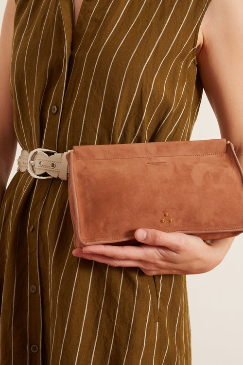 Clic Clac L Clutch in Rosewood