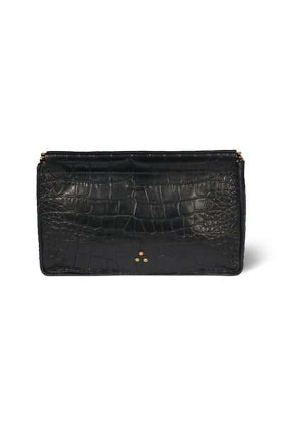 Clic Clac Large Clutch in Croco Noir