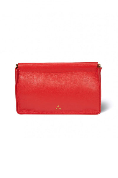 Clic Clac Large Clutch in Rouge Goatskin
