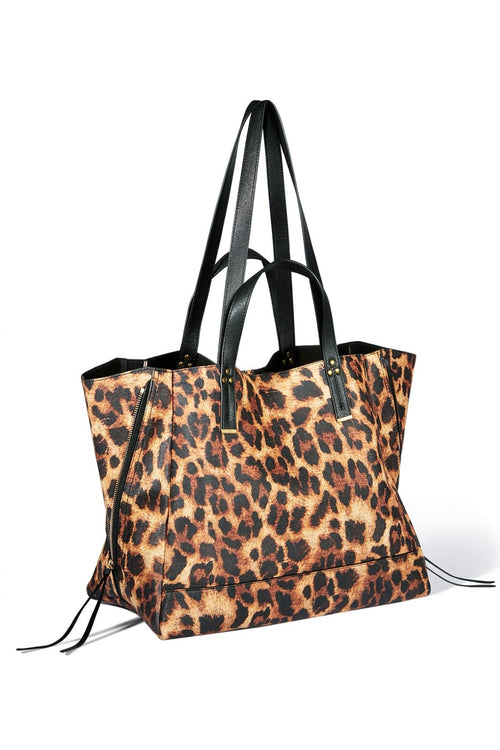 Georges Large Bag in Print Leopard