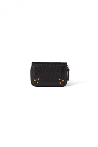 Henri Wallet in Noir Bubble Lambskin