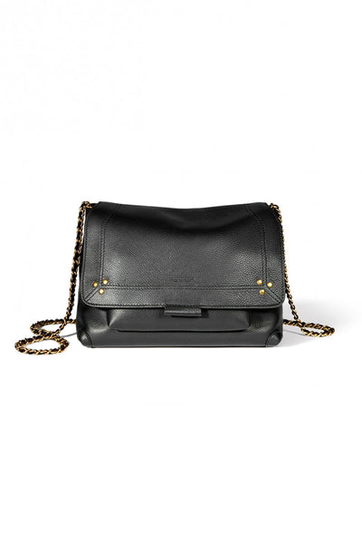 Lulu Medium Bag in Noir Calfskin