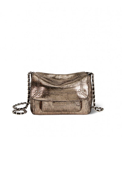 Lulu Small Bag in Lame Champagne Goatskin