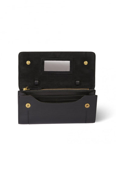 Pif Calfskin Crossbody in Noir Brass