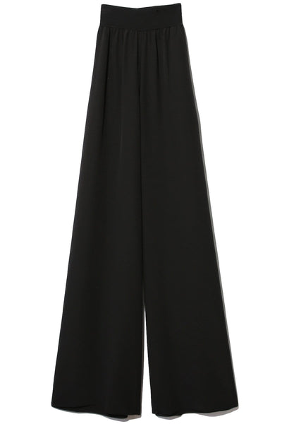 Crepe de Soie Huland Trousers in Black