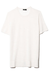Fine Merinos Short Sleeve Tee in Ivory