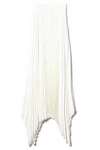 Rib Plisse Ade Skirt in Ivory