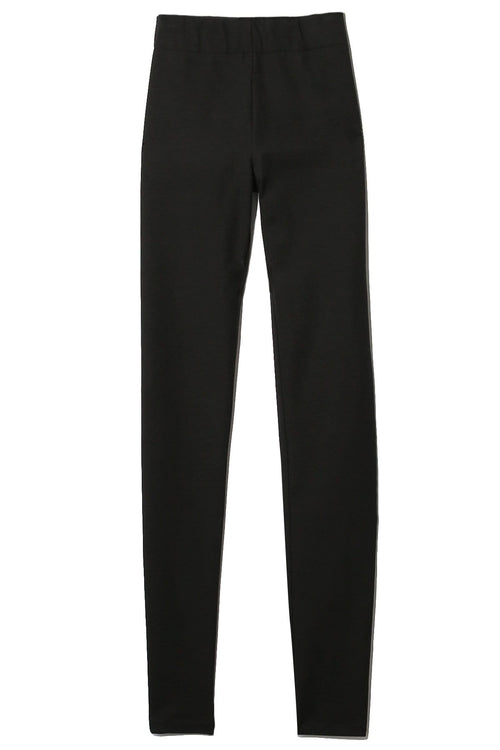 Stretch Gabardine Legging Trouser in Black
