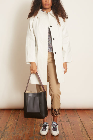 Oil Above The Knee Trench in White