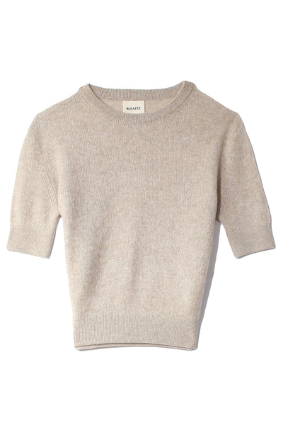 Dianna Short Sleeve Sweater in Powder