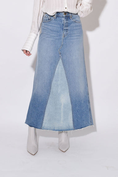 Magdalena Reconstructed Long Skirt in Kayton