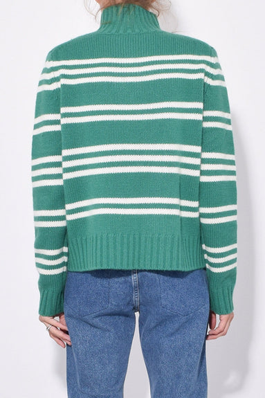 The Kelly Sweater in Forest/Cream