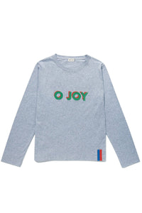 The Modern Long O Joy Top in Heather Grey