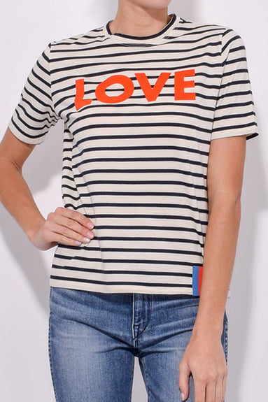 The Modern Love Tee in Cream/Navy