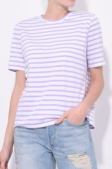The Modern Top in White/Lilac