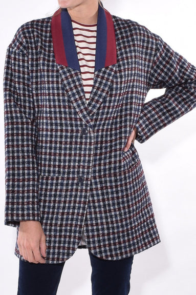 The Nathan Blazer in Navy Multi