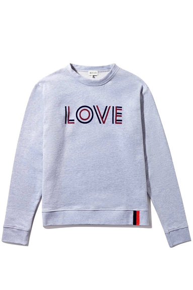 The Raleigh LOVE Sweatshirt in Heather Grey