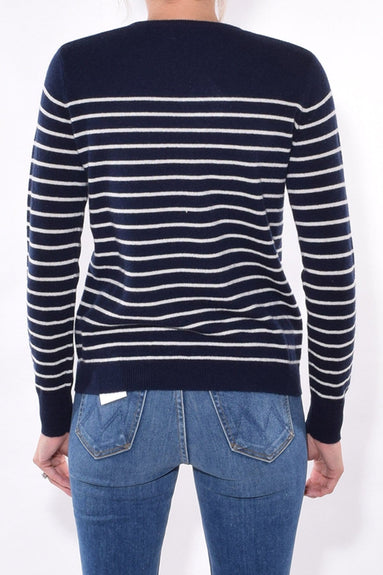 The Sophie Sweater in Navy/Cream