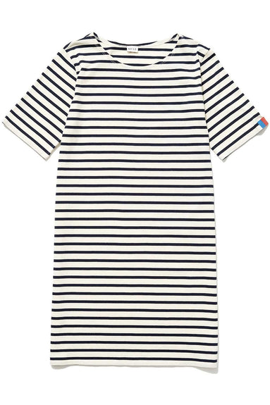 The Tee Dress in Cream/Navy