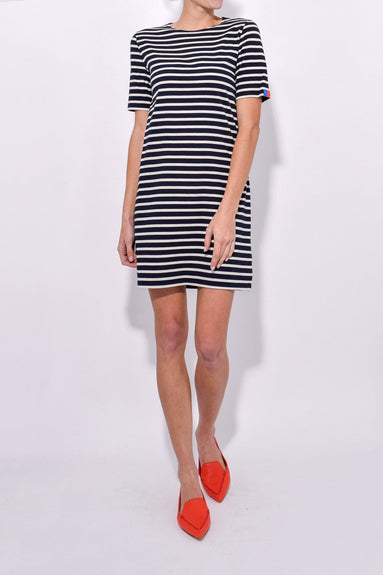 The Tee Dress in Navy/Cream