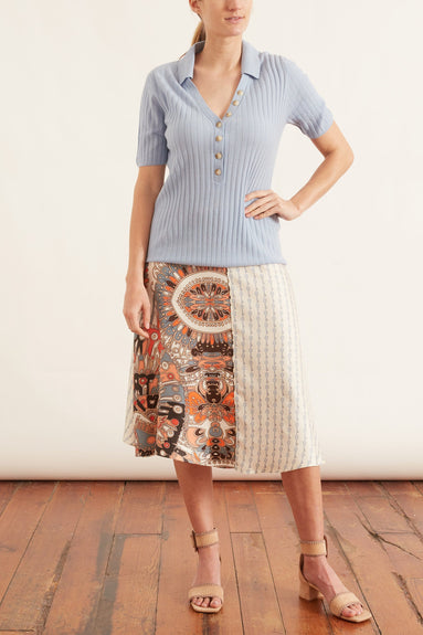Parapluie Skirt in Flying Bird/Beige