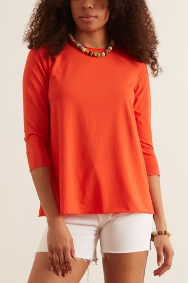 Jeppe Jersey Top in Poppy