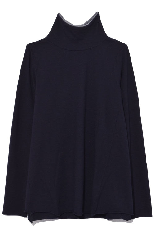 Denver Charme Jersey Top in Rabbit/Atlantic