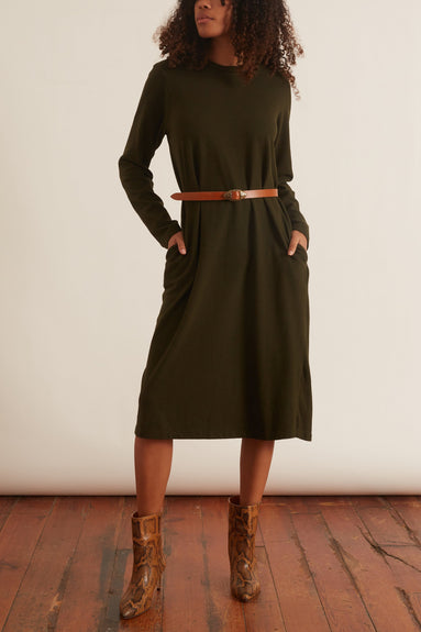 Stefano Cervo Dress in Olive