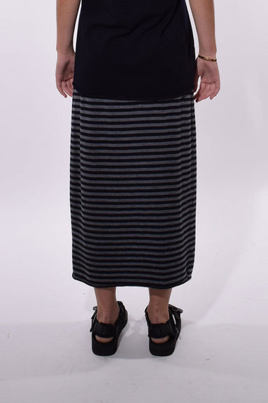 Penna Charme Rigato Skirt in Rabbit/Atlantic