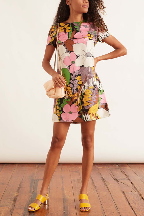 Mini Swing Dress in Big Flower