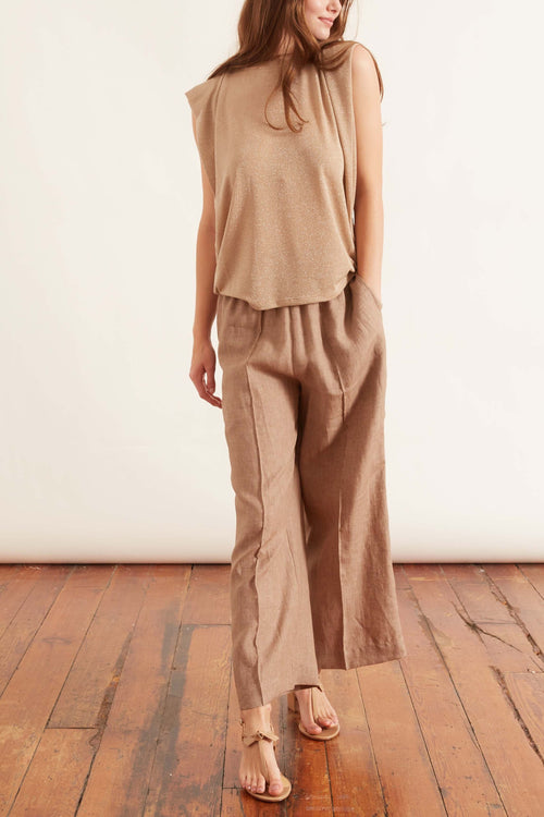 Willa Linen Pant in Brown