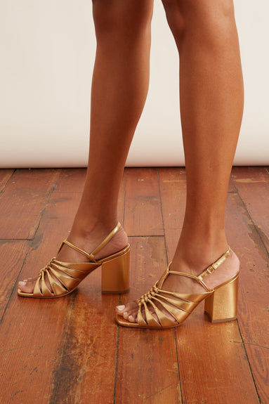 The Burma Day Party Sandal in Gold
