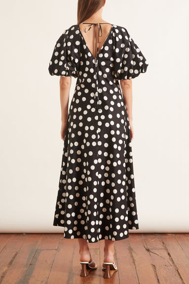 Cherry Spot Puff Sleeve Dress in Spot